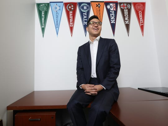 "Christopher Rim, 22, of Paramus, was recently named in Forbes' ""30 Under 30"" list. A new graduate of Yale University, Rim is the CEO of Command Education Group, which helps students get into top universities throughout the country. Rim is shown in his Manhattan office."