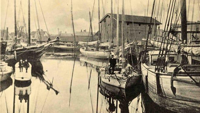 Dock Scene, Wicomico River, c.1910.