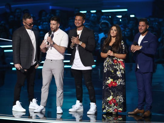 """Jersey Shore"" cast members at the 2018 Movie and TV Awards ."