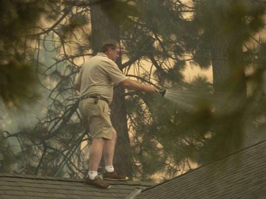 The aggressive Angora Fire near South Lake Tahoe drove