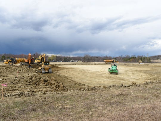 A view of the construction for the East Fishkill Sports