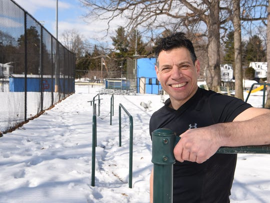 Dutchess County fitness trainer Michael Polito does his training outside all year round.