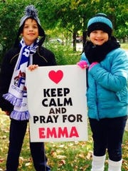 Twins Sam and Sophie Findley show support for their