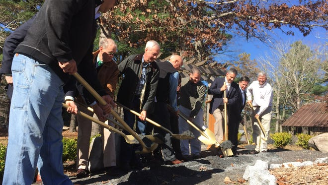 YMCA officials and donors break ground on a new-and-improved Camp Greenville.