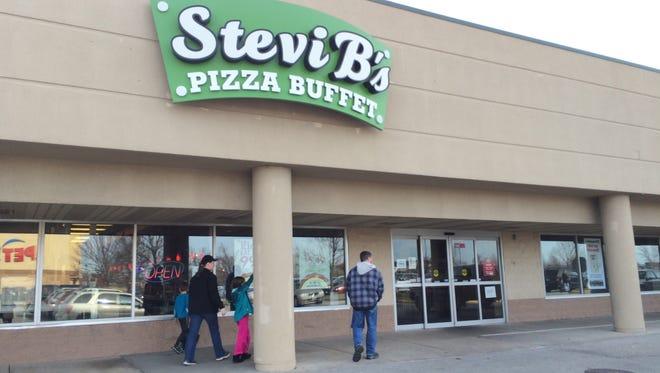 Stevi B's Pizza Buffet will close Nov. 21, 2015 in Grand Chute.