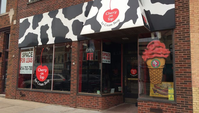 Cherry on top Ice Cream Shop closed in early December in downtown Neenah.