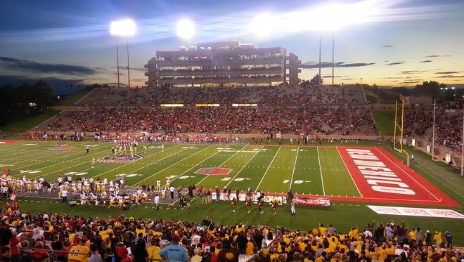 University Stadium in Albuquerque, home to the New Mexico Lobos and the Gildan New Mexico Bowl.