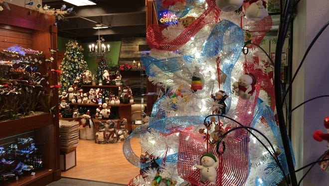 The Christmas-themed area of June Bugs Gifts and Christmas, 500 S. Military Ave.