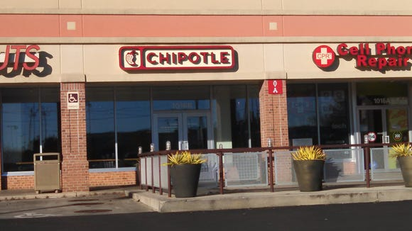 The Chipotle location near Salisbury University was