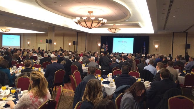 Fox Cities Regional Partnership's 2016 Economic Outlook Breakfast on Tuesday drew more than 400 people to the Radisson Paper Valley Hotel in Appleton.