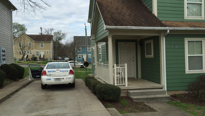 The home where a man was shot and later died early Saturday.
