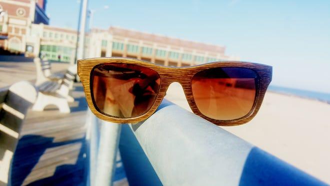 The Traveler stained Bamboo frames, polarized lenses for $120.