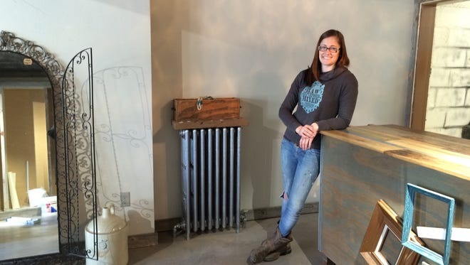 Cassidy Evers, shown here, will open a new design studio in downtown Appleton with her mother, artist Linda Schrage.