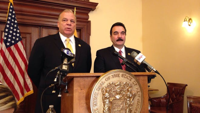 Assembly Speaker Vincent Prieto (right) and Senate President Stephen M. Sweeney will meet Friday in search of a compromise on Atlantic City that has eluded the Democrats.