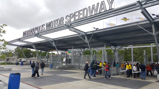 The new and improved main entrance of the Indianapolis Motor Speedway was a big hit among fans who attended the Angie's List Grand Prix Saturday