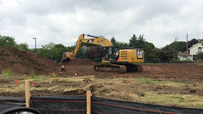 The digging on Nicolet Road in Grand Chute is site prep for a future medical office building.