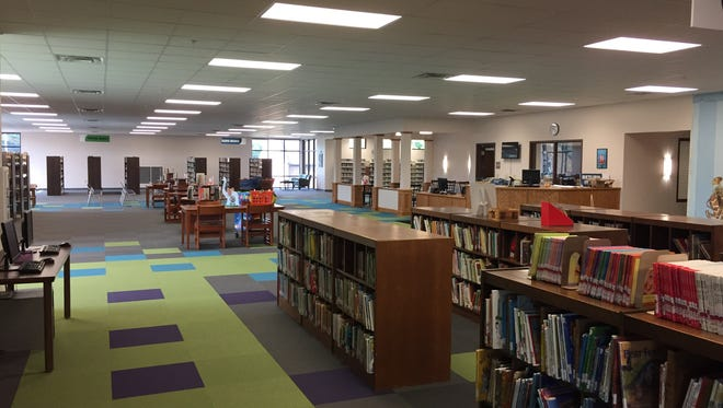 Inside part of the significantly bigger Mt. Juliet-Wilson County Harvey Freeman Memorial Library, now back open  after a $2.5 million expansion and renovation project. A ribbon cutting was held July 20, 2016.