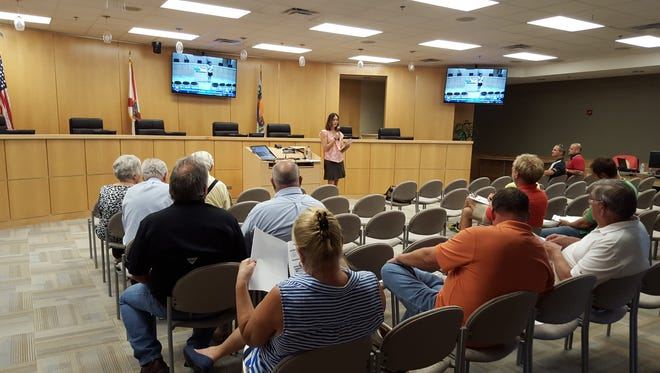 Sarah Propst, Planner II, leads the Land Development Code (LDC) public participation meeting at 6 p.m., Aug. 10 in the community room, 51 Bald Eagle Drive. The city is in the process of revising the LDC to correct inconsistences and maximize ease of use.