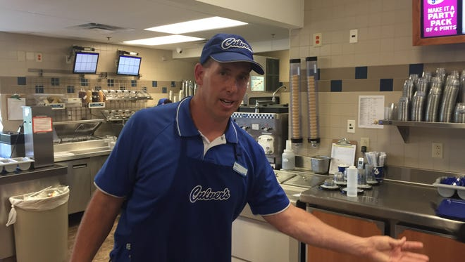 Former college football coach Eric Johnson at the Hendersonville Culver's restaurant July 26, 2016.