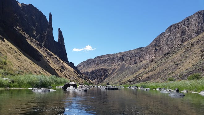 Views from the Oregon Desert Trail are seen here on the Owyhee River.