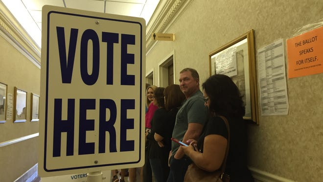 A record 45,000-plus residents participated in early voting in Sumner County. This photo shows voters in line at the Sumner County Administration Building on the final day of early voting, Nov. 3, 2016.