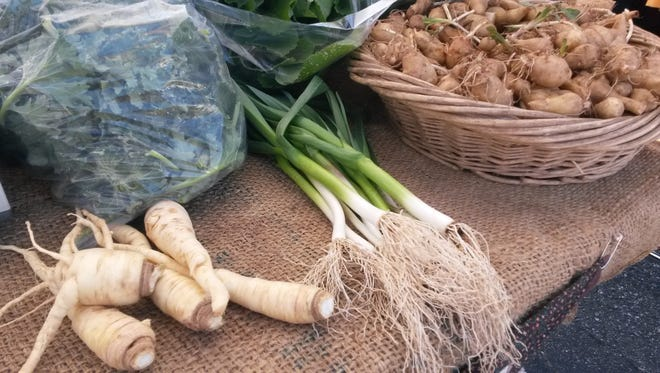Courtesy of ASAP Parsnips, green onions and sunchokes from Long Valley Eco-Biotic Farm at West Asheville Tailgate Market.