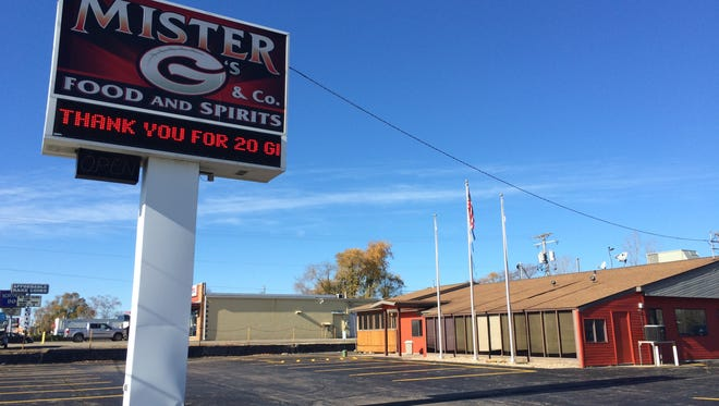 Mister G's closed at the end of October in Appleton.