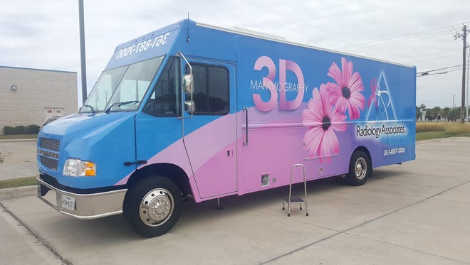 The Mammomobile, Radiology Associates' mobile mammogram unit was unveiled Thursday during a press conference at the Southside Imaging Center.