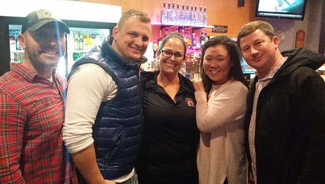 Bobby Styles, Michael Galyean, Erica Gil, Jen and Alex Hauk, from left, at Right Up Your Alley Bar and Grill.