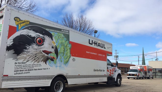 The Hang Up's production facility parking lot in Neenah is now a U-Haul neighborhood dealership location.