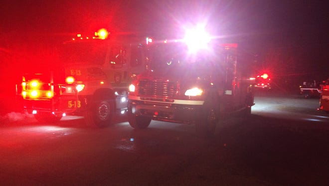 File photo of multiple fire departments responding to a fire in Door County.