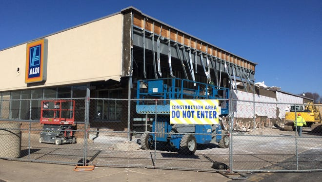 Aldi on W. College Avenue in Appleton is currently open during the first phases of its renovation. It will shut from early May until its reopening in June.