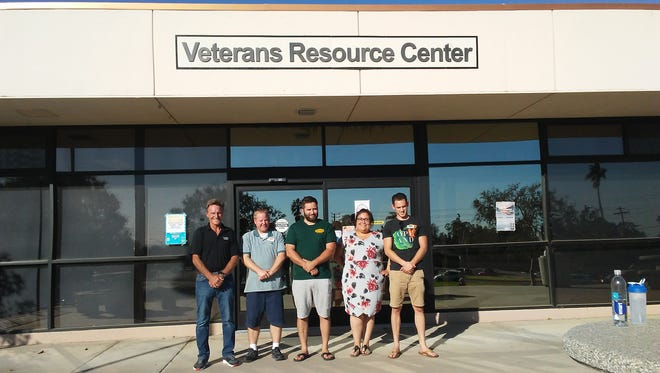 The Veterans Resource Center at Ventura College is a place for veterans and their dependents to go to get help. Left to right: Bruce McFadden, Chris Neppach, Adam Gonzalez, Daniela Rodriguez, Garrett Murrieta.