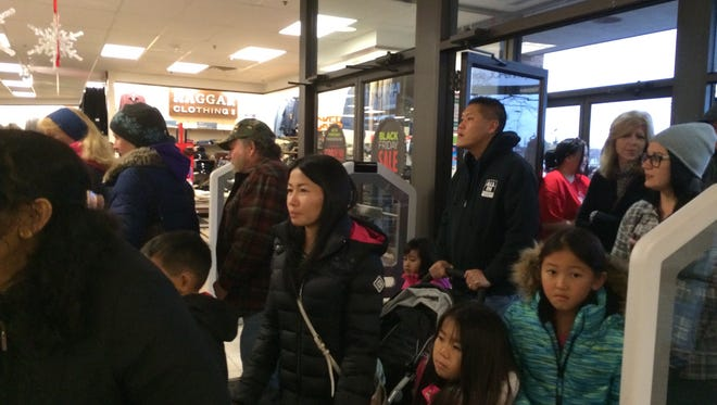 J.C. Penney opened Thanksgiving Day before dusk last year in the Fox River Mall, drawing big crowds.