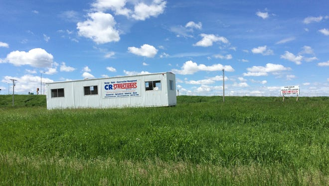 CR Structures' construction trailer sat at the building site last summer.