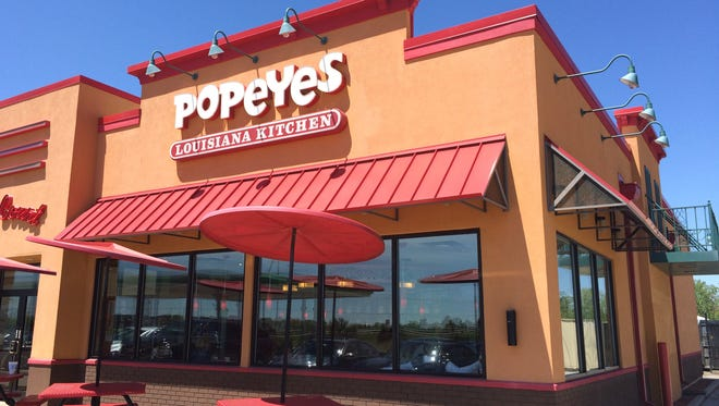 Popeyes Louisiana Kitchen, seen here in an Indiana location, is under construction next to Taco Bell on West College Avenue in Appleton.