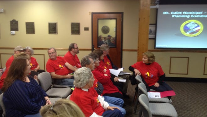 Members of the Mt. Juliet Senior Activity Center packed the city's planning commission meeting Thursday to support a new senior living campus that would include a new senior center.