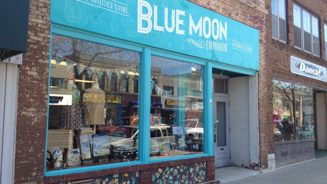 Blue Moon Emporium sells gifts, novelties and clothing in downtown Appleton.