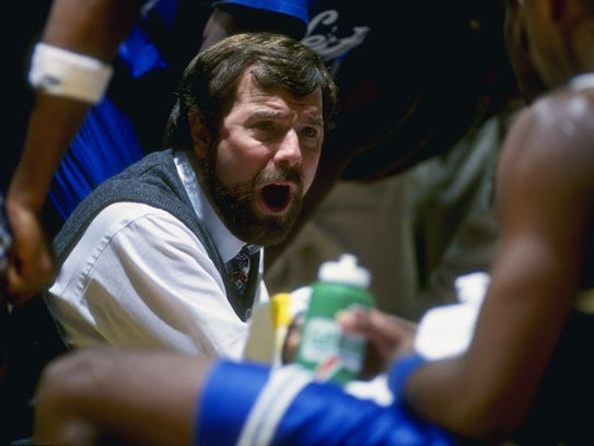 P.J. Carlesimo coaching Seton Hall in an undated photo.