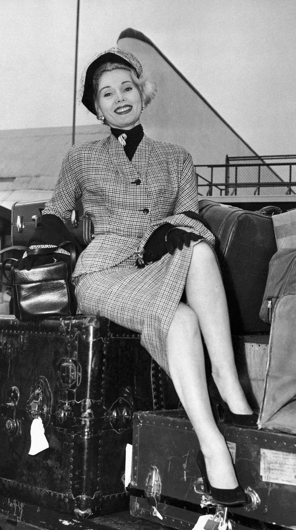 Because not all of us can travel like Zsa Zsa Gabor,