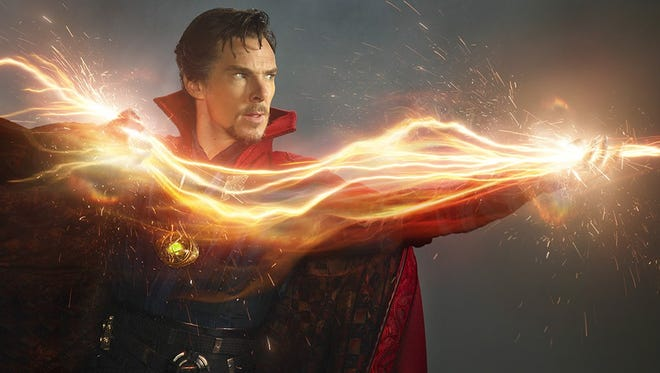 Benedict Cumberbatch as Dr. Stephen Strange in conceptual art from the upcoming movie. (Courtesy of Marvel)