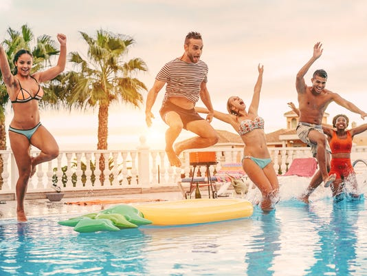 #istock summer pool party