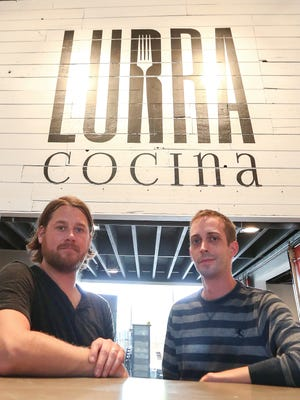 Executive chef Nickolas Illingworth, left, and restaurant co-owner Mike Crownover have opened Lurra Cocina.