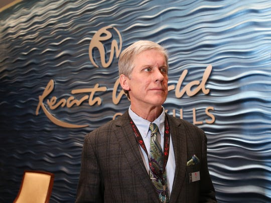 Bill Fallon of Port Chester, is the hotel concierge at Resorts World Catskill Casino in Monticello.  Thursday, February 8, 2018.
