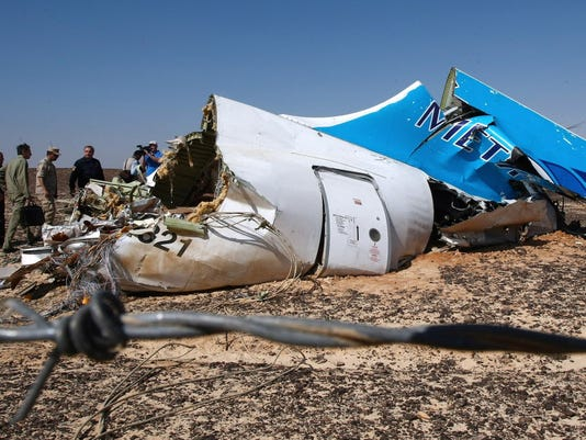 EPA EGYPT RUSSIAN METROJET PLANE CRASH AFTERMATH DIS TRANSPORT ACCIDENT EGY