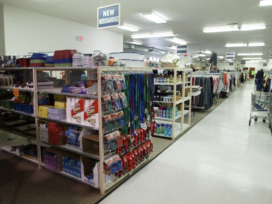 A new building to be erected at the St. Vincent de Paul thrift store will offer additional storage for the operation. Pictured is the interior of the store in a June 2013 file photo.