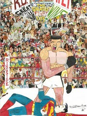 """""""Ali vs. Superman"""" by D. Marque Hall shows the heavyweight"""