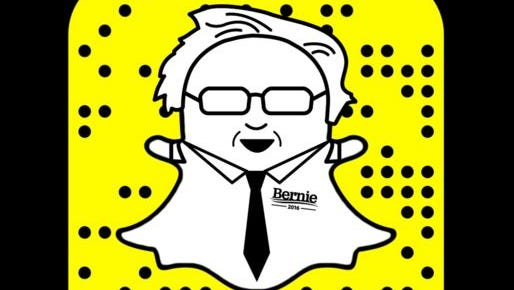 """Soon after joining Snapchat, Bernie Sanders Tweeted: """"What is this Snapshot thing and why do I only get ten seconds?"""""""