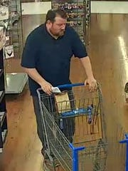 A second photo of a man police are looking for the identity of this man, suspected of theft at the Springettsbury Walmart.
