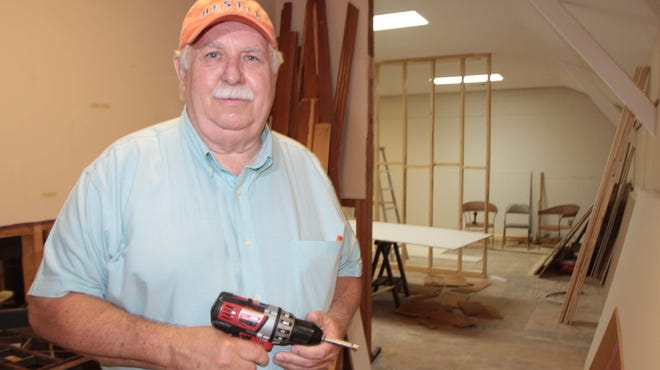 Whitney Alger is a new volunteer at Chennault Aviation and Military Museum. He is helping with the remodeling.